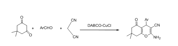 A new strategy for the synthesis of 2-amino-4H-pyran derivatives in aqueous media using DABCO-Cucl complex as a novel and efficient catalyst