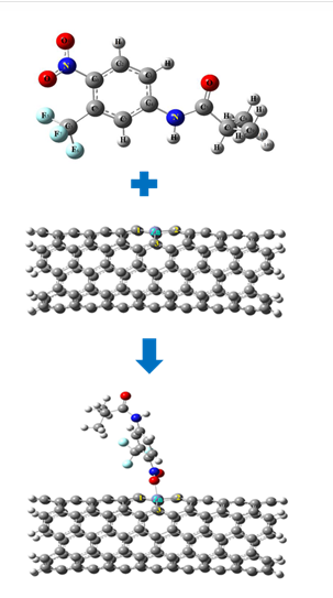 Studying physicochemical characteristics of Flutamide adsorption on the Zn doped SWCNT (5,5), using DFT and MO calculations