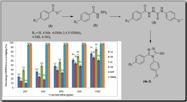 KF/CP NPs as an efficient nanocatalyst for the synthesis of 1,2,4-triazoles: Study of antioxidant and antimicrobial activity
