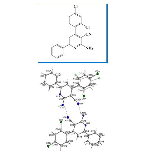 Single crystal X-Ray structure and DFT-D3 studies on 2-amino-4-(2,4-dichlorophenyl)-6-phenylnicotinonitrile